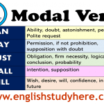 Modal Verbs List and Using in English