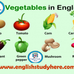 Names of Vegetables in English