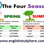 Learn the Seasons in English