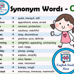 Synonym Words List in English - C