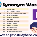 Synonym Words List in English– D