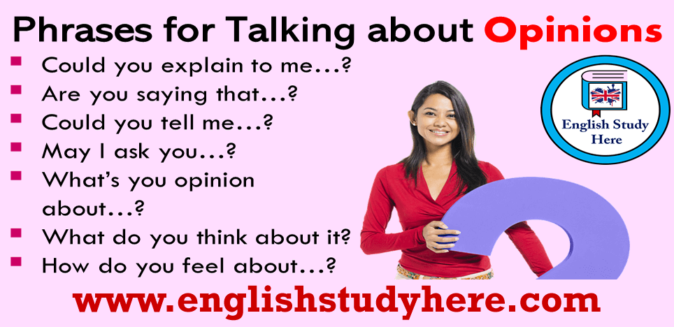 Phrases for Talking about Opinions in English