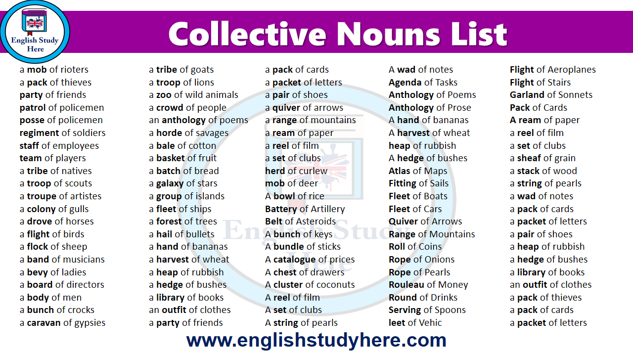 English Collective Nouns List